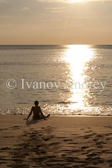 Sea, sunset, girl (Ivanov Andrey) Tags: sea ocean girl sunset evening sun shade shore sky beach water air bay beauty blue cape cliff cloud harbour horizon island journey landscape nature perspective sand tourism wave weather white wind tide lowtide thailand