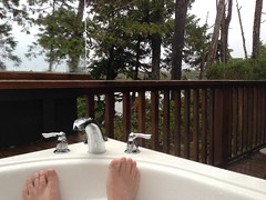 Sitting in the hot tub on the balcony, listening to the waves crash below. Great morning in Tofino. (John Biehler) Tags: middlebeachlodge uploaded:by=flickrmobile flickriosapp:filter=nofilter