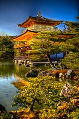 The Golden Pavilion 2 (SamHawleywood) Tags: trees lake beautiful japan temple spring kyoto day kinkakuji hdr highdynamicrange goldenpavilion thegoldenpavilion hawleywood worldheritagelistedsite samhawleywood