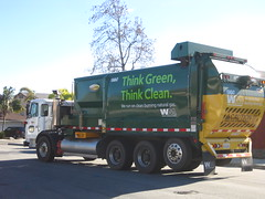 yard waste (Scott (tm242)) Tags: auto ca trash yard truck garbage natural side wm gas management oceanside greens waste refuse recycle loader recycling load cng automated asl acx autocar labrie automizer