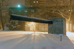 Snowy Pratt Institute Sculpture Park (cisc1970) Tags: nyc sculpture snow brooklyn nemo clintonhill winterstorm winterstormnemo prattinstittesculpturepark