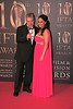 Donal McIntyre and Guest at Irish Film and Television Awards 2013 at the Convention Centre Dublin