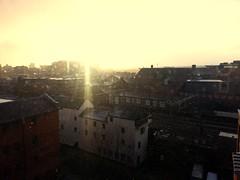 Snow Sunrise (pepemczolz) Tags: morning snow sunrise buildings landscape industrial leeds flickrandroidapp:filter=none