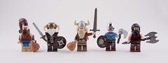 Fantasy Viking Raiders (Hammerstein NWC) Tags: lego helmet fantasy loot axe shield sack viking norse raider pillage fantgasy