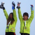 2013 Tyee Cup Overall Champions, Female – Arabella Ng, WMSC   Male – Henry Bibby, Grouse Tyee                      PHOTO CREDIT: Bob Walton