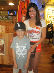 Adam with Christina (BuccaneerBoy) Tags: winter orange hot sexy beautiful restaurant legs baseball boobs florida gorgeous hooters dining shorts lovely february whitesox clearwater littleleague hootersgirls hootersofinternet gulftobay