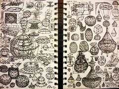 2011 Vessel Sketches 1 (Alberto J. Almarza) Tags: geometricart 3ddrawing vimana albertojalmarza levitatedobjects torisianstructures torisianvessels geometricsketches flyingvessels gridforms geometricshading