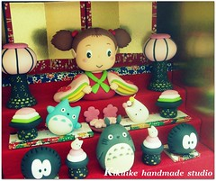 TOTORO { Japanese doll } (charles fukuyama) Tags: miniature handmade decoration totoro artdoll custom dollhouse sculpted japanesedoll claydoll kikuike
