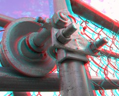 IMG_5433FenceWheel (EdwardMitchell) Tags: red canon is stereoscopic 3d spokane cyan anaglyph powershot bellevue sx1 stereoscopy