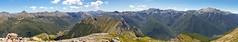 Lockett Range pano (NettyA) Tags: park newzealand panorama canon hiking national bushwalking southisland range tramping lockett tasmannz kahurangi eos550d