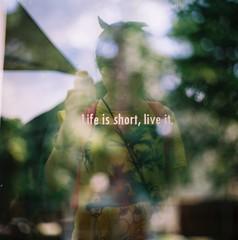 Life is short, live it (waiyuhk) Tags: 120 6x6 film mediumformat thailand kodak doubleexposure kiev88 arsat ektar 80f28
