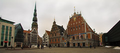 Old Town, Riga (David G Mills) Tags: architecture square latvia artnouveau nd riga jurmala neutraldensity jrmala houseofblackheads ndx400 oldtownriga eos1100d
