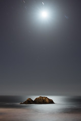 Descent (eCHstigma) Tags: sf sanfrancisco california longexposure moon seascape zeiss landscape nikon sutrobaths distagon d600 25mmf2 distagnt225