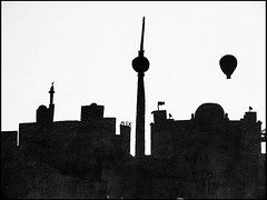 20130214-17 (sulamith.sallmann) Tags: streetart berlin tower art silhouette germany deutschland europa kunst towers fernsehturm turm deu tvtower trme kunstwerk kunstimffentlichenraum aussichtsturm schattenriss berlinerfernsehturm sulamithsallmann