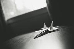 Paper Plane (explored) (.monodrift) Tags: plane paper airplane nikon origami fighter jet yang thay