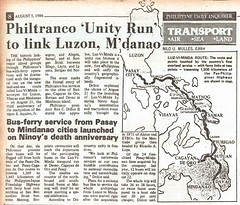 1986 0805 Philtranco 'Unity Run' to link Luzon, M'danao (goriob33) Tags: 1986 philtranco luzvimindarun