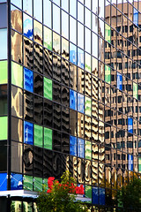 911-03 (Joe-Lynn Design) Tags: reflection building glass mirror winnipeg