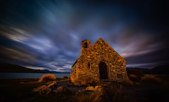 Moody Skies Over the Dark Church (Stuck in Customs) Tags: newzealand lake texture church water night dark pacific january chapel tiny southisland laketekapo aotearoa trey tekapo mountcook ratcliff tewaipounamu 2013 stuckincustoms treyratcliff stuckincustomscom nikond800 tewakaamaui