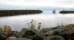 Incoming (Jeanne W Pics) Tags: lake water minnesota boat midwest rocks yacht northshore duluth lakesuperior