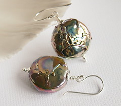 Talos (Beguiled By The Bead) Tags: glass jewellery earrings lampwork sterlingsilver isabelleanderson