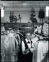 Edna Dretzka at Dretzka's Department Store, Cudahy, Wisconsin, 1988 (shimonandlindemann) Tags: wisconsin cudahy clerk dretzkasdepartmentstore