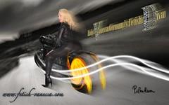 Vanessa biker (piloukam) Tags: black girl lady fetish fire vent shoes noir highheels boots barbie gimp route heels spike feuer nuit feu fer bottes compositing lany fekete lfv hautstalons ladyfetishvanessa