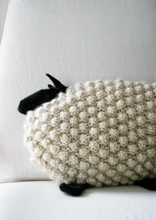 Bobble Sheep Pillow in Super Soft Merino pattern by Purl Soho