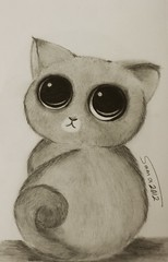 Cat (Sama0s) Tags: art pencil cat sketch drawing artists drawn