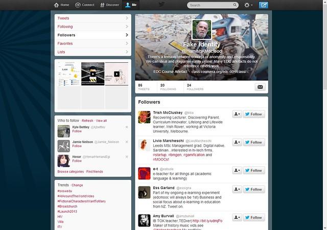 New followers Fake hamish