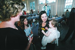 Kathy Julie Kriste Charlotte (Area Bridges) Tags: 2003 wedding party june print scan reception newhaven copy weddingreception june282003