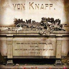 "2009-11-22 ""von Knapp."" ([ henning ]) Tags: sculpture friedhof fall church monument cemetery grave graveyard stone yard canon germany garden typography memorial mourning box decay cementerio gothic north goth casket ground case burial nrw stony churchyard lettering analogue cemitrio remembrance coffin burying wuppertal 3000v 2009 nordrheinwestfalen boneyard henning squared grief inscription cimetire commemoration epigraph rhinewestphalia cimiteri unterbarmen bereavement 2013 wuppertalbarmen mhlinghaus unterbarmer uploaded:by=flickrmobile flickriosapp:filter=nofilter"
