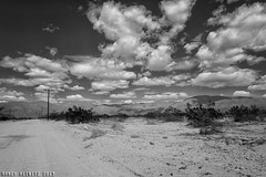 Fifty Steps (It's So Sunny!) Tags: california blackandwhite bw clouds canon coachellavalley dirtroad dailyphoto skyvalley riversidecounty flickrfriday project365 canonef24105mmf4l canonphotography 68365 canon5dmarkii randyheinitz walk50stepsandshoot