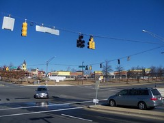 New Wegmans store and shopping center, under construction, in Germantown, Montgomery County, Maryland, USA. (sebypires) Tags: county city urban usa