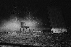 Day # 69. In the spot light (Harleycy3) Tags: dark mono moody seat spotlight grainy
