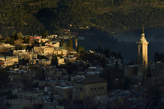 first light rays (David Mor {off}) Tags: morning village jerusalem stjohn monastery birthplace johnthebaptist einkerem zachariasthepriest martyrschapel