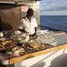 The chef preparing some nibbles on board the MV Sun Dancer II