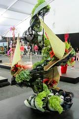 Sail Away (Jocey K) Tags: show flowers newzealand people colour art lines design exhibit nz l sales arrangement floralart ellerslieinternationalflowershow