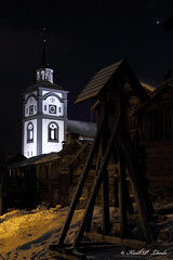 Røros by night (Karl P. Laulo) Tags: norway canon easter 7d karl røros 2012 påsken laulo 1585mmis