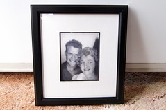 birthday gift (haunted snowfort) Tags: mom dad framed jacob brandon barbara nephew gift grandparents 1950s dating happybirthday professionallyframed crsytalbeach