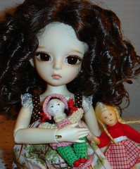My girls are so clearly doll lovers, too :) (Ayla160 >^..^<) Tags: girl vintage ball germany miniature wire doll heart rebecca crochet curls curly blond german wig tiny bubble livia bjd braids cloth meyer monique erna dollhouse flexible livvy bendable jointed poseable stockinette yosd dollndoll