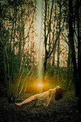 the truth is out there (arrowlili) Tags: trees light girl up forest woods levitation dreaming 365 conceptual float ascend odc conceptphoto theteleidoscope