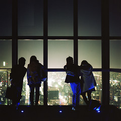 brilliant city (TAT_hase!) Tags: film kodak c hasselblad nagoya nightview portra  planar  160 80mm carlzeiss 66 midlandsquare  503cxi