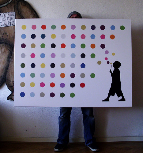"""hirst bubbles"" canvas, edition of 5, 140x105cm"