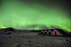 Merendero en el lago Jokursarlon (Juan Carlos Cortina) Tags: night lights noche iceland islandia shot nieve aurora nocturna fro nothern boreal jkulsrln fotografa