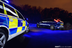 The Chronicles Of Sully : A Close Shave (NWVT.co.uk) Tags: uk blue light urban hot ford car night photography lights volvo nikon focus europe long exposure different traffic offroad getaway painted memories performance police automotive explore memory mk2 hatch sully flashing rs chronicles stopped d800 cornered on explored nwvt