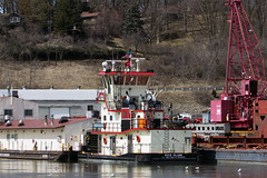 Pleasant Valley,Iowa 3/23/2013 (Doug Lambert) Tags: boat ship iowa tugboat pleasantvalley rockisland lockanddam14 usarmycorpsmississippiriver laroseshipyard