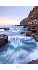 Canyon X (John_Armytage) Tags: clouds sunrise dawn rocks australia textures blowhole nsw headland northernbeaches warriewood slowwater canyonx warriewoodblowhole johnarmytage wwwjohnarmytagephotohgraphycom