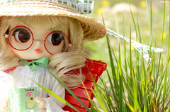 Sophie (magnhildr) Tags: flowers beauty reading glasses book spring doll country dal lolita pullip eris steampunk obitsu byul