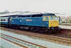 47555 at rhyl (47604) Tags: brush rhyl britishrail sulzer class47 47126 47555