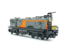 'Choo Choo'  Apoc Train! ([Stijn Oom]) Tags: orange black love broken train warning lego down armor guns zombies shields plating gunz brickarms m1919